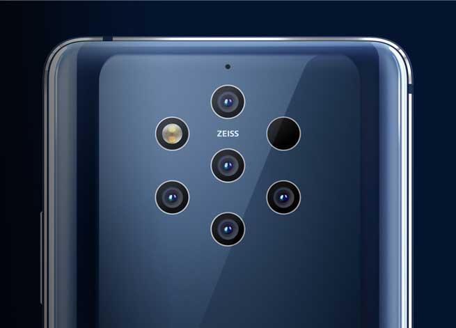 il sistema a 5 fotocamere dei nuovi smartphone Nokia 9 PureView