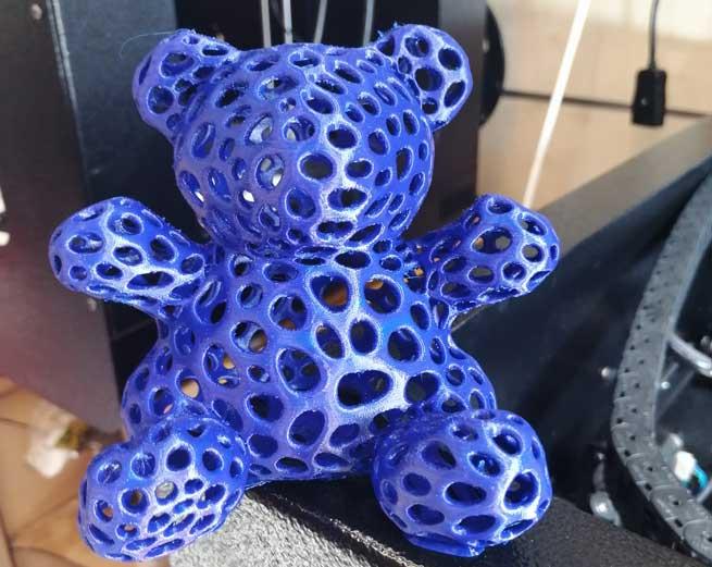 oggetto realizzato con la stampante 3d