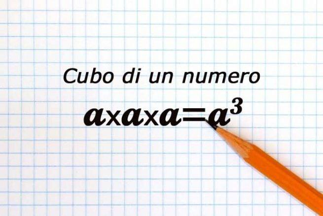 numero elevato al cubo