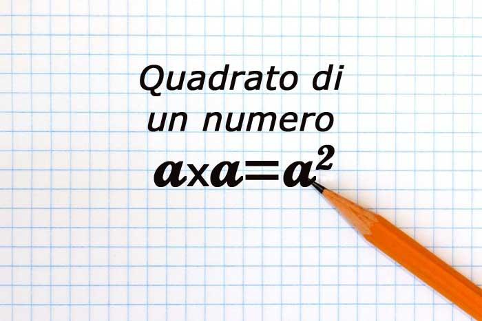 numero elevato al quadrato