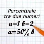 percentuale tra due numeri